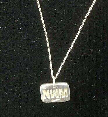 Sterling silver Tiffany & Co. Necklace NWM Nike I RUN TO BE on .925 Silver Chain