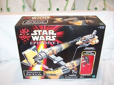 New Star Wars Sebulba's Pod Racer With Spring Out Blade Episode I Factory Sealed