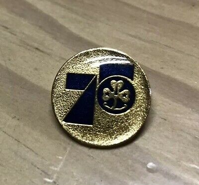 Commemorative Metal Badge  75 Years Girl Guides 1977 Lady Baden Powell