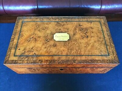 Antique c.1830-40 William IV Burr Walnut Writing Slope