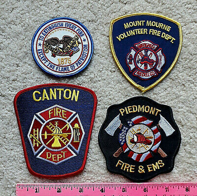 Lot of 4 FIRE & EMS Patches from various locations > Firefighting Lot #2