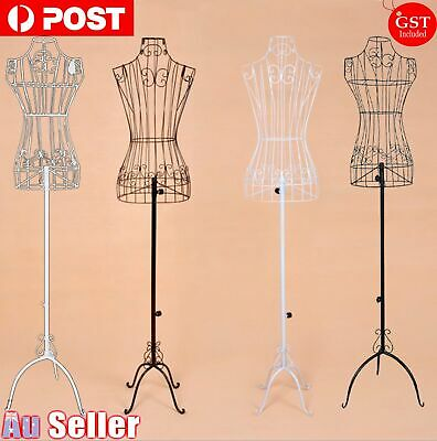 Adjustable Mannequin Metal Iron Cloth Wire Dress Boutique Wedding Holder Display