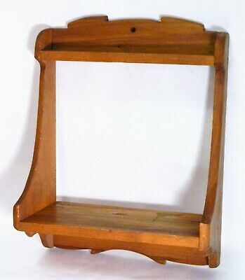 Vtg/Wood Shelf/Wall Decor/Hand Crafted/Arts & Crafts Style/FarmHouse/BoHo Chic