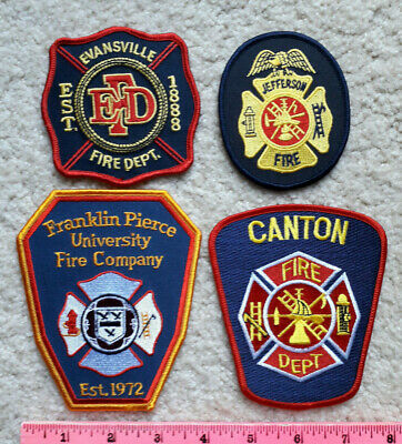 Lot of 4 FIRE & EMS Patches from various locations > Firefighting Lot #4