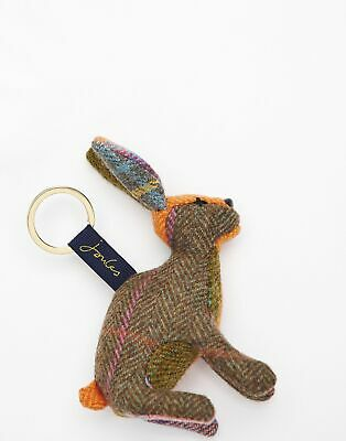 Joules Womens Tweedle Novelty Tweed Keyring in BROWN HARE in One Size