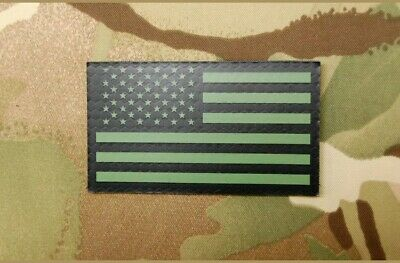 """OD Green Us IR/Infrared reflective USA Flag Military Patch (3.5x2"""")"""