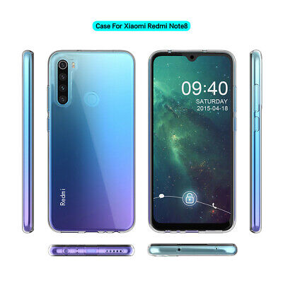 For Xiaomi Redmi Note 8 Shockproof Clear Transparent Silicone Case Cover