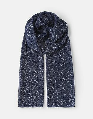 Joules  209914 Printed Scarf - NAVY STAR in One Size