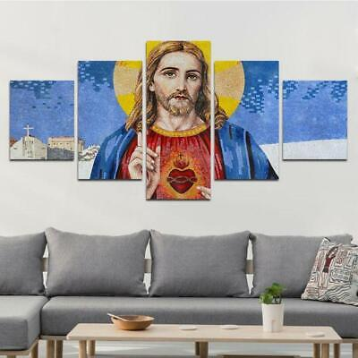 Great God Painting 5 pieces Canvas Print Christ Jesus Poster Wall Art Home Decor