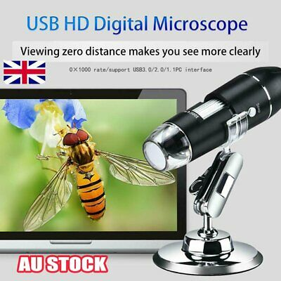 8LED 1000X/1600X Electronic Digital Microscope Handheld USB Magnifier Endoscope!