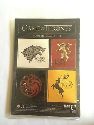 HBO Game Of Thrones House Sigil Magnet Set Loot Crate Exclusive NEW SEALED