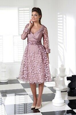 NEW SEASON Veromia Mother Of The Bride/groom Outfit Size 18 Rose Print Organza