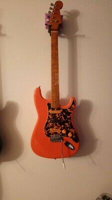 Retro-orange Custom Vintage Stratocaster SSS E-Gitarre mit Blendregler