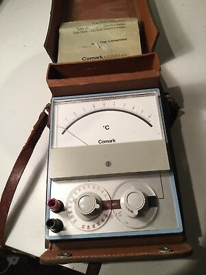 Comark Electronic Thermometer Type 1604 In Leather Case