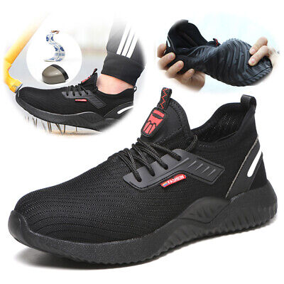 Mens Work Safety Shoes Indestructible Steel Toe Cap Boots Sneakers Industrial
