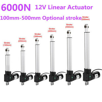 12VDC  Linear Actuator 6000N Max Lift Stroke Electric Motor for Medical Auto Car
