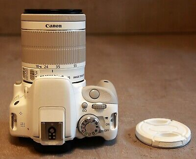 CANON EOS 100D white + zoom EF-S 18-55mm IS STM white +accessoires + sacoche