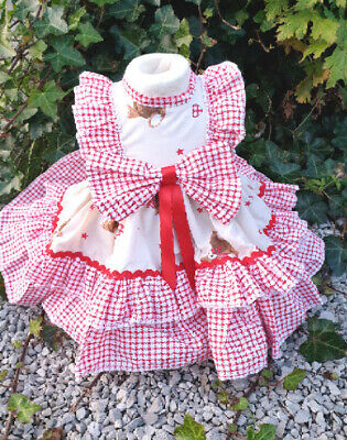 DREAM SPANISH TRADITIONAL PARIS PINK  DRESS  FULLY LINED DRESS 0-5 YEARS