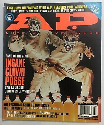 Insane Clown Posse Alternative Press Magazine 2000 Twiztid ICP Band Of The Year