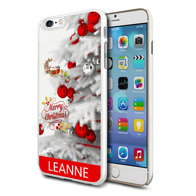 Personalised Xmas Christmas Phone Case Cover for Apple Samsung Initial Name - 26
