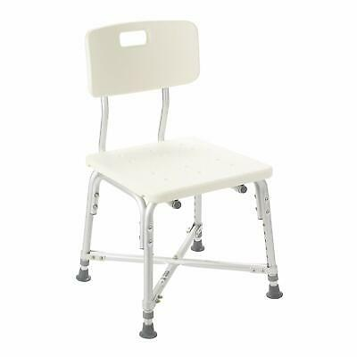 Drive Medical Heavy Duty Bariatric Bath Bench with Back, White