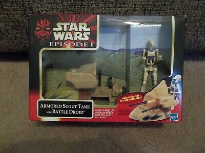 """Star Wars Episode 1 TPM Scout Tank with Battle Droid """"Brand New""""!!"""