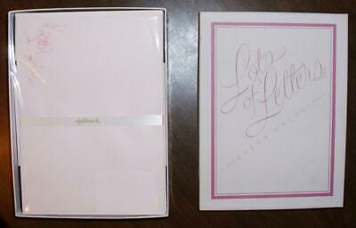 Vt New Hallmark 50 Sheets 25 Decorated Stationary Paper Envelopes Lots Of Letter