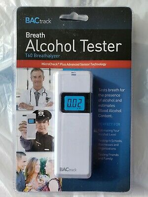BACtrack Breath Alcohol Tester T60 Breathalyzer White Brand New Sealed
