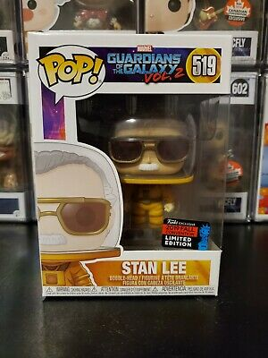 Funko Pop Marvel Guardians GOTG Stan Lee #519 2019 NYCC Exclusive WITH PROTECTOR