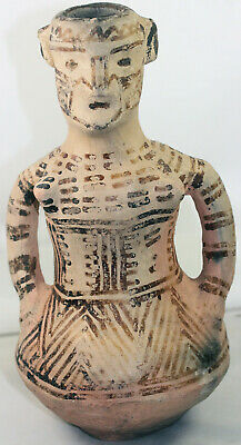 Strange pottery jar in the form of a woman - culture unknown