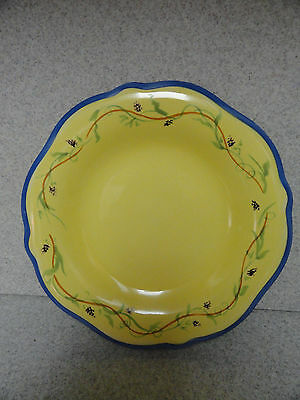 Pfaltzgraff Pistoulet Salad/Luncheon Plate with Blue Trim set of 4