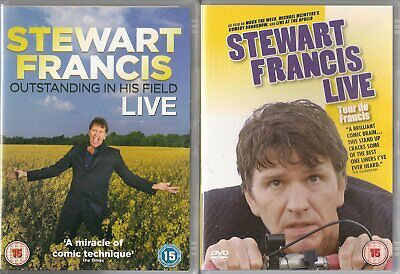 2 Stewart Francis Comedy DVDs - Tour De Francis & Outstanding In His Field
