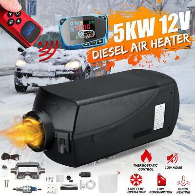 HCalory 2KW 12V Diesel Air Heater Small Size LCD Remote Silencer For Motor-home