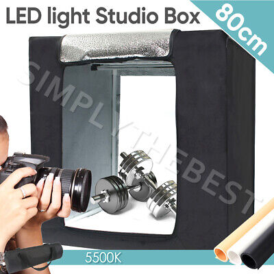 80CM LED Light Tent Cube Portable Photography Studio Lighting Room Kit Soft Box