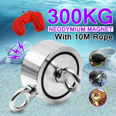 67mm 300KG Strong Powerful Magnet Detector Salvage Tool Recovery Hunting Rope