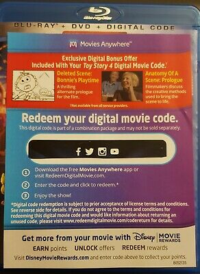 Toy Story 4*Please Read (Movie Key Only) NO DVD! NO BLU-RAY! 2019