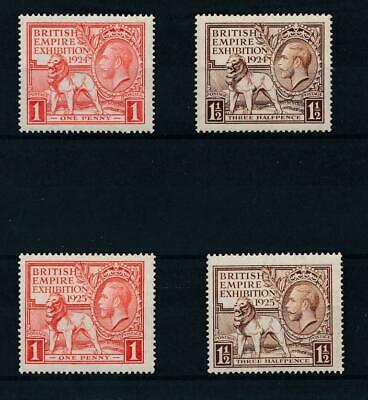[36273] Great Britain 1924/25 Two good sets Very Fine MH stamps