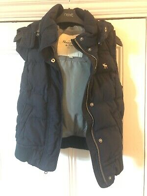 Abercrombie And Fitch Gillet With Detachable Hood Girls L Age 12 Navy