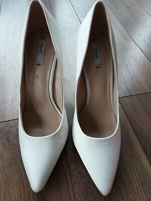 Next Satin Ivory White Bride Shoes Size 4 Bnwt wedding