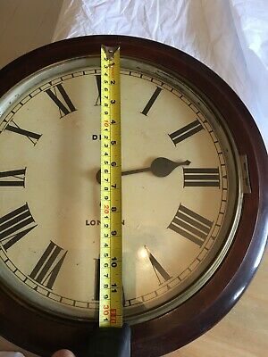 Antique Mahogany Dent  London FUSEE WALL CLOCK