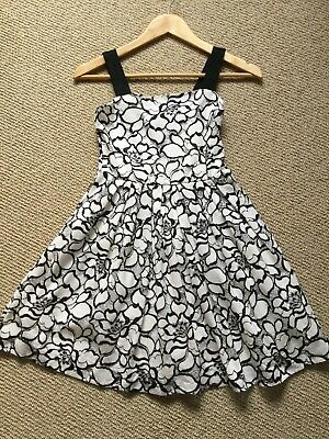 Gorgeous River Island Party Occasion Dress Girls Age 12 Years Black/white