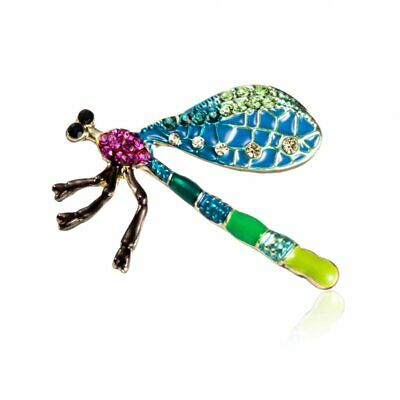 Rhinestone Crystal Dragonfly Insects Brooch Pin Women Party Costume Jewellery