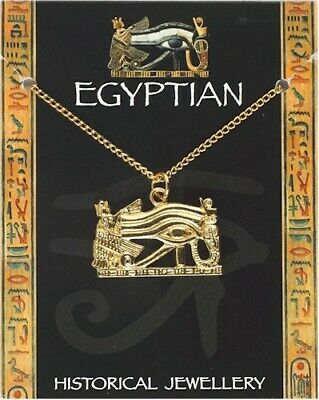 Eye of Horus (Wadjet Eye) Pendant On Chain - Gold Plated