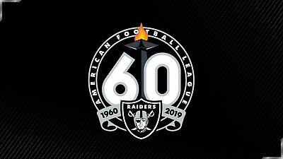 "OAKLAND RAIDERS 60TH ANNIVERSARY DECAL VINYL Sticker  Choose size 3 "" -28"" PVG"