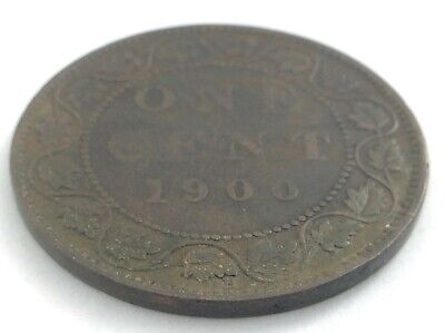 1900 H Canada 1 One Cent Large Penny Copper Circulated Victoria Coin L540