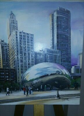 The Beam Chicago Painting