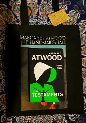 Margaret Atwood - The Testaments SIGNED FIRST EDITION/ Handmaid's Tale Tote