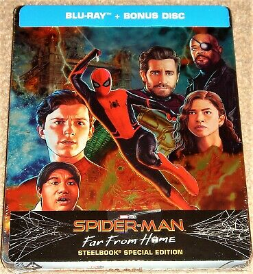Spider-Man Far From Home Steelbook Region Free Blu ray / Import / WORLDWIDE P+P