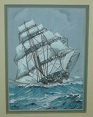 """CASHS SILK WOVEN PICTURE 1851 CLIPPER """"FLYING CLOUD"""" BUILT BY D McKAY BOSTON USA"""