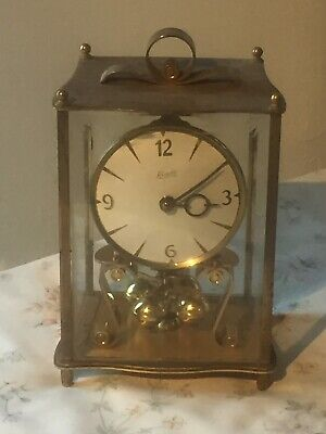 "Wonderful Vintage Of 1960's ""KUNDO"" Solid Brass German Anniversary Clock 4 Parts"